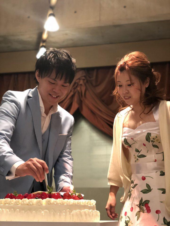 京都 ウェディングケーキ 入刀 ファーストバイト