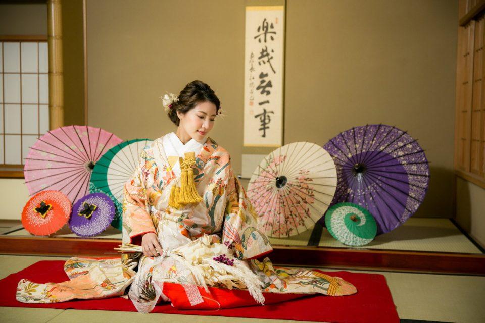 京都 オリジナルの髪飾りを使った前撮り
